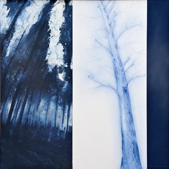 Scontorni (2) - 2012 - 70x70 cm - tecnica mista su legno