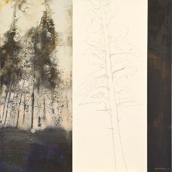 Scontorni, 2010 - 70x70 cm, tecnica mista su legno
