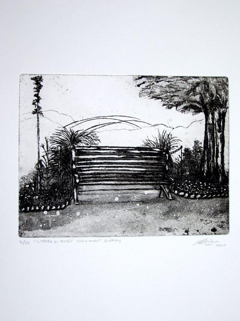 il tempo di Monet chez Monet Giverny - cm 18 x 23,5