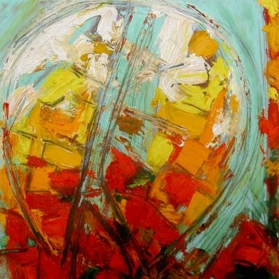 TAC 02 - 2012 - Olio e collage su MDF - cm 20x20
