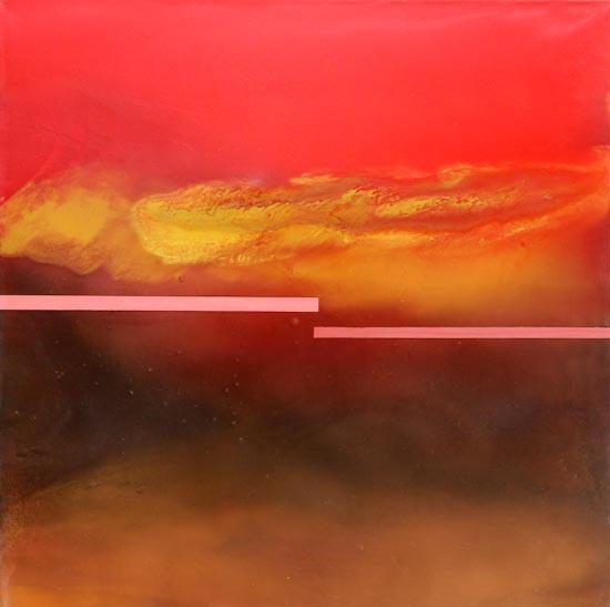 Vulcano in Eruzione - olio su tela 100x100 - 2013