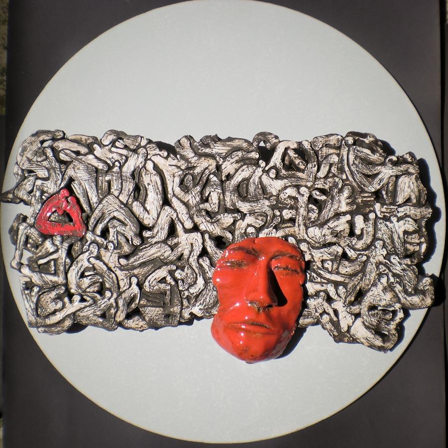 Opera in ceramica dell'artista Aldo Burattoni