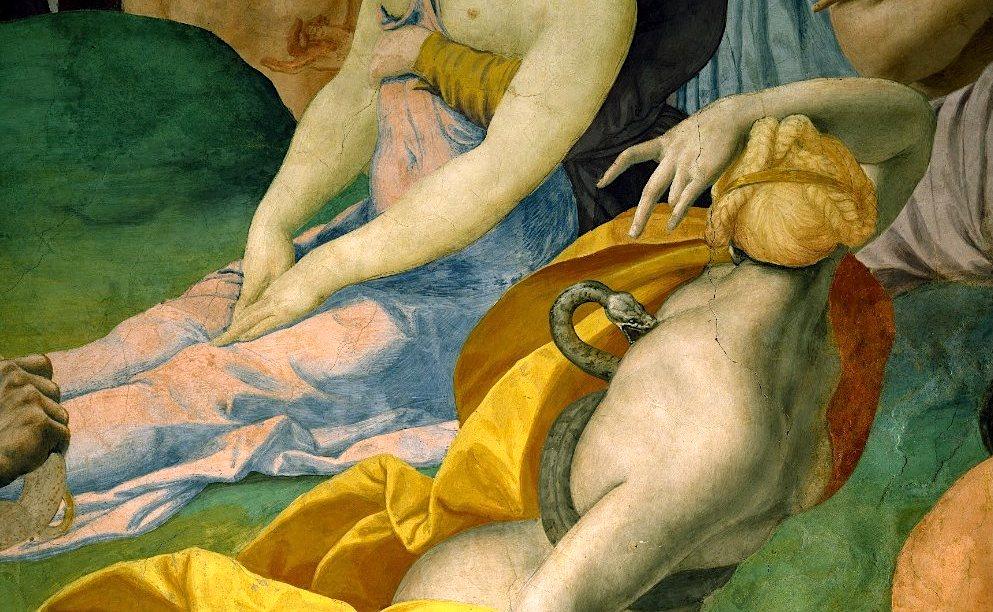 L'adorazione del serpente di bronzo - Bronzino - Affresco della Cappella di Eleonora da Toledo - Museo di Palazzo Vecchio, Firenze 1540-45