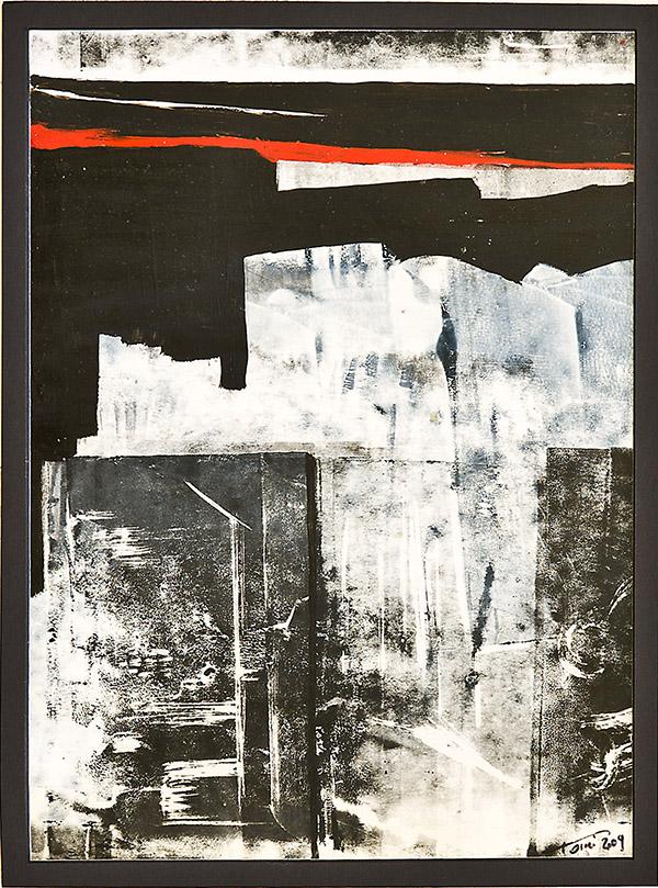 Blocchi - 2009 - olio su carta - cm 30x 24