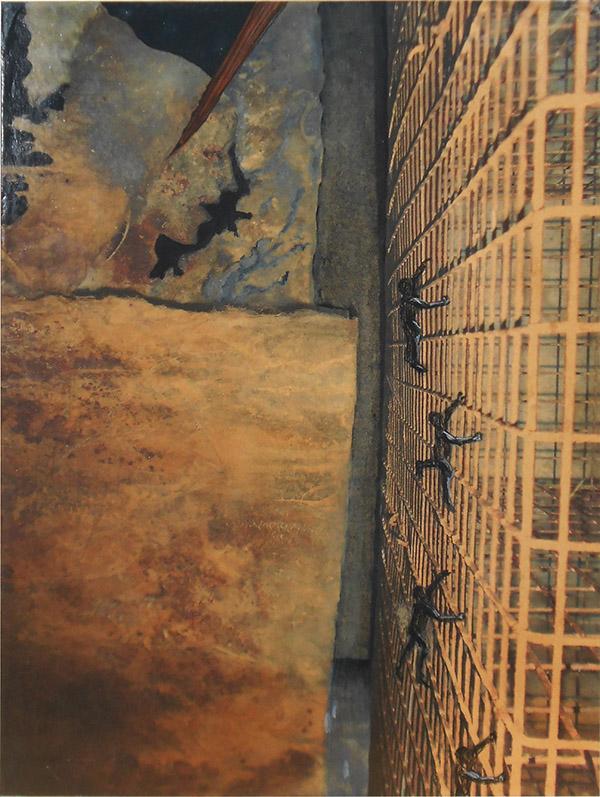 Fuga dal male oscuro - tecnica mista - cm.93 x 70