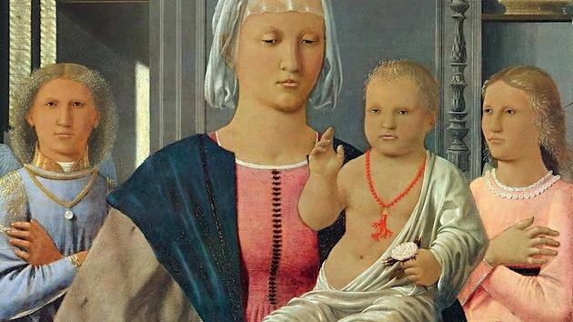 Madonna di Senigallia, dettaglio - Tempera su tavola - Piero della Francesca - Museo nazionale delle Marche