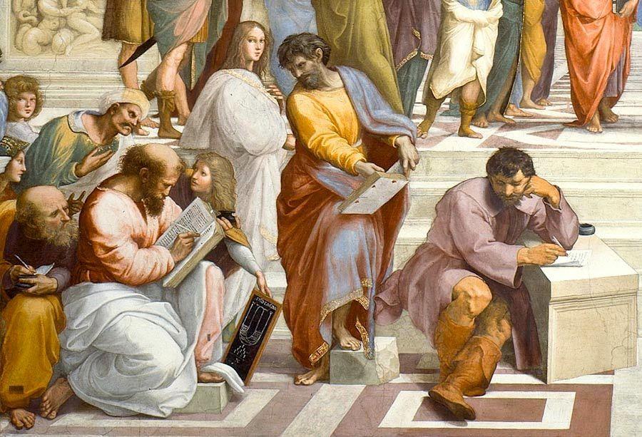 Scuola di Atene - Raffaello - Stanze Vaticane, dettaglio