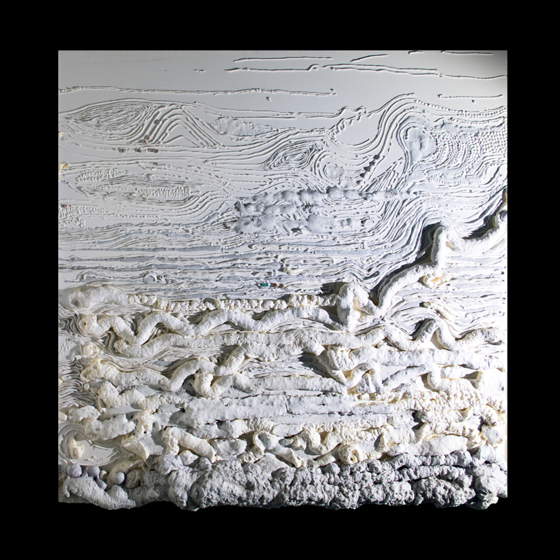 Claudia Marinoni | Sedimentazione | tecnica mista 100x100x4