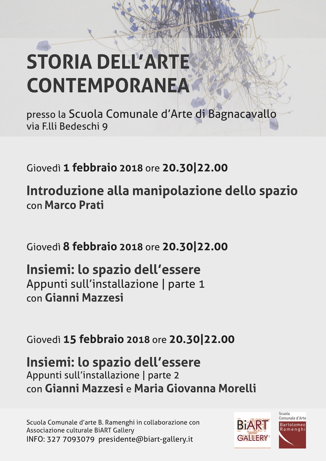 STORIA DELL'ARTE CONTEMPORANEA | 2018