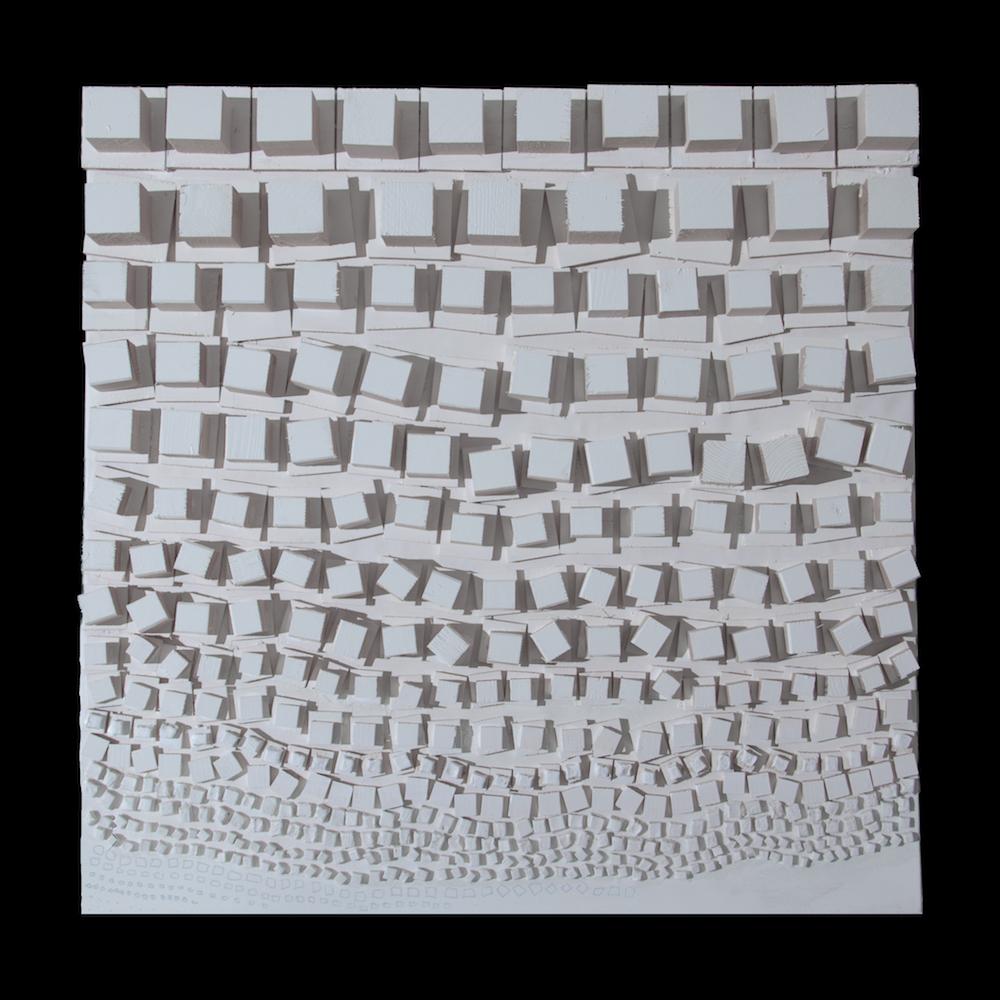Mainoni | esse2 | 2016 | legno su tela | 80x80x6