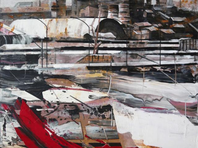 Liliana Santandrea - Viaggio a Nord, 2016, tecnica mista su tela, cm 150 x 100